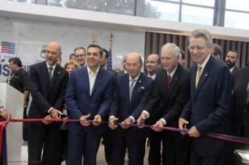 Greek Prime Minister Alexis Tsipras inaugurating the US pavilion at the 83rd Thessaloniki International Fair (TIF).