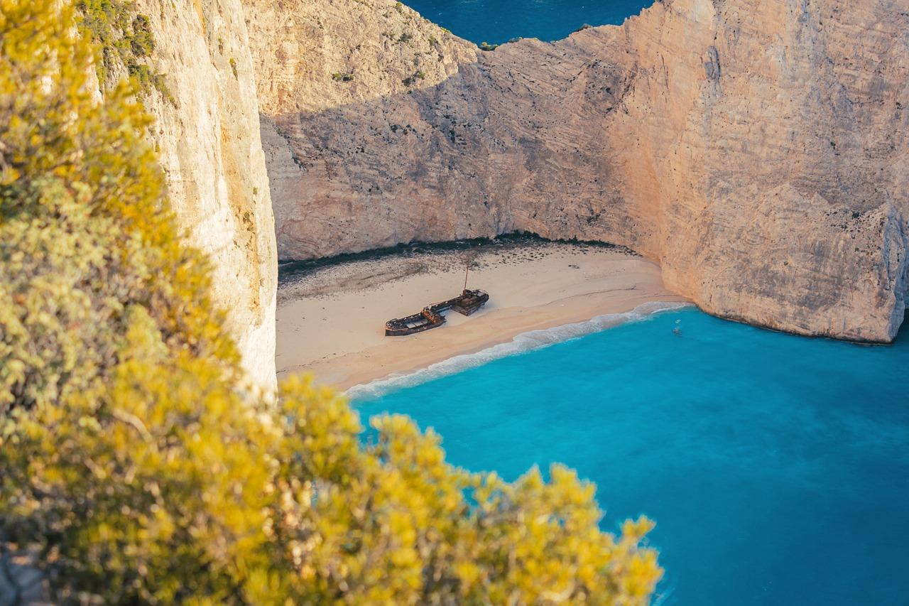 Archive photo of Navagio (Shipwreck) Beach on Zakynthos.