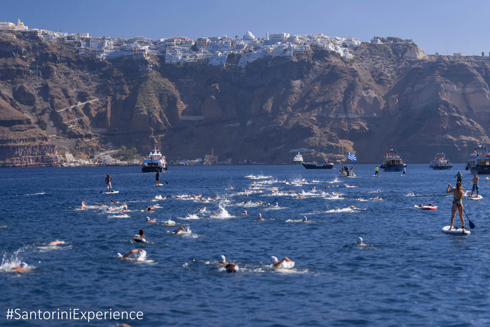 Santorini Experience: Swimming. Photo by Elias Lefas