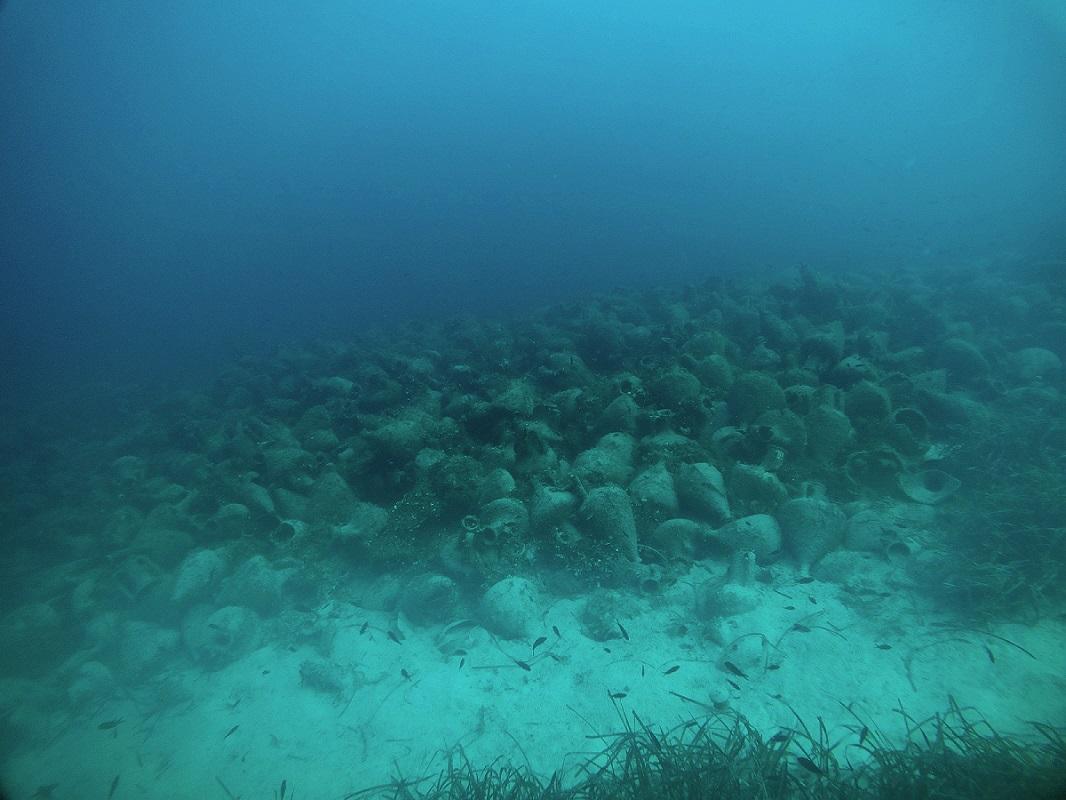The shipwreck near the islet of Peristera, east of Alonissos.