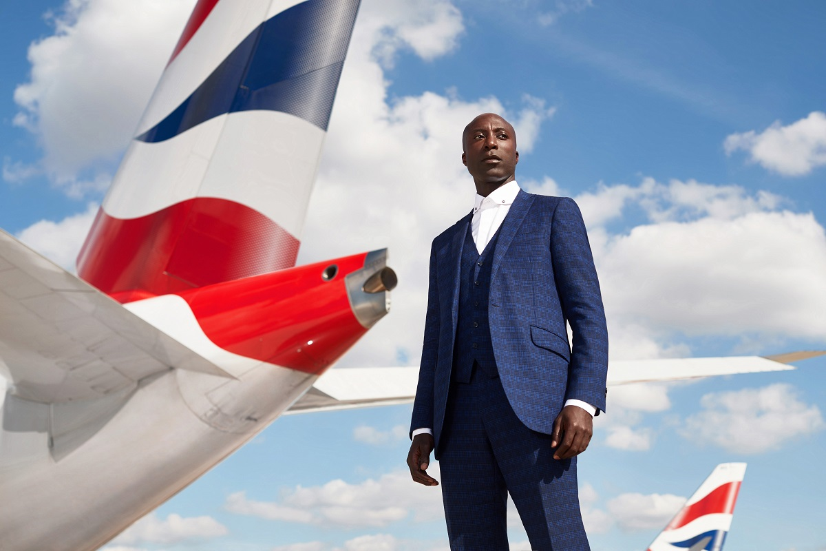 Ozwald Boateng photographed by Neale Haynes at London Heathrow