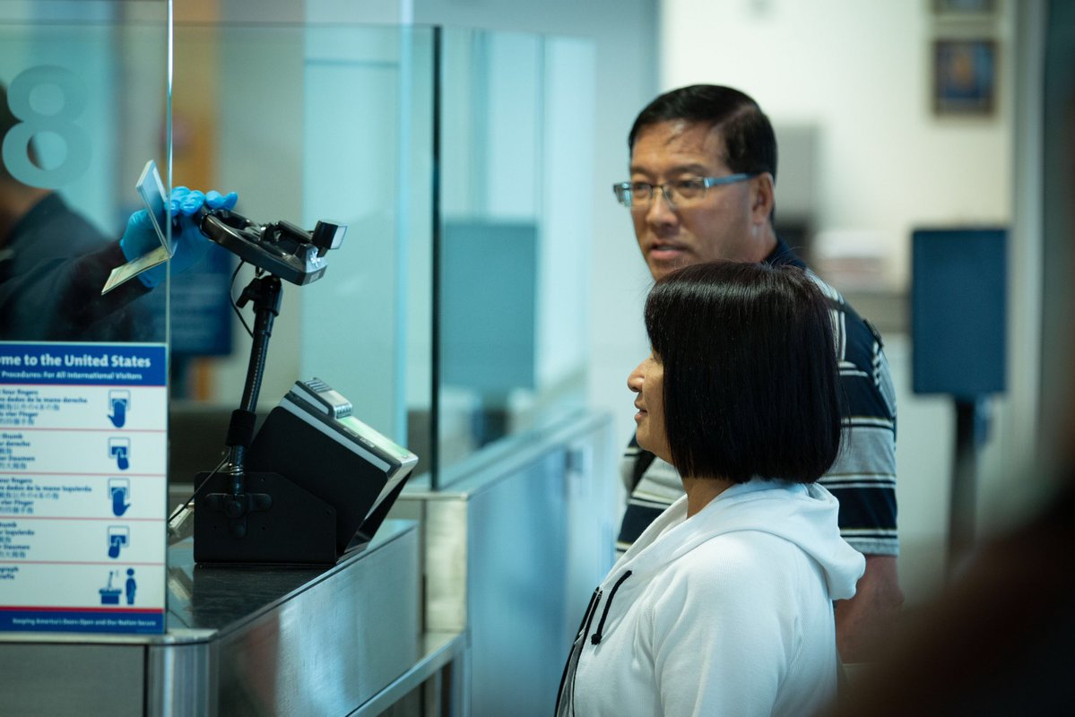 CBP is using facial recognition technology to increase security and improve the traveler experience. Photo Source: @CBP