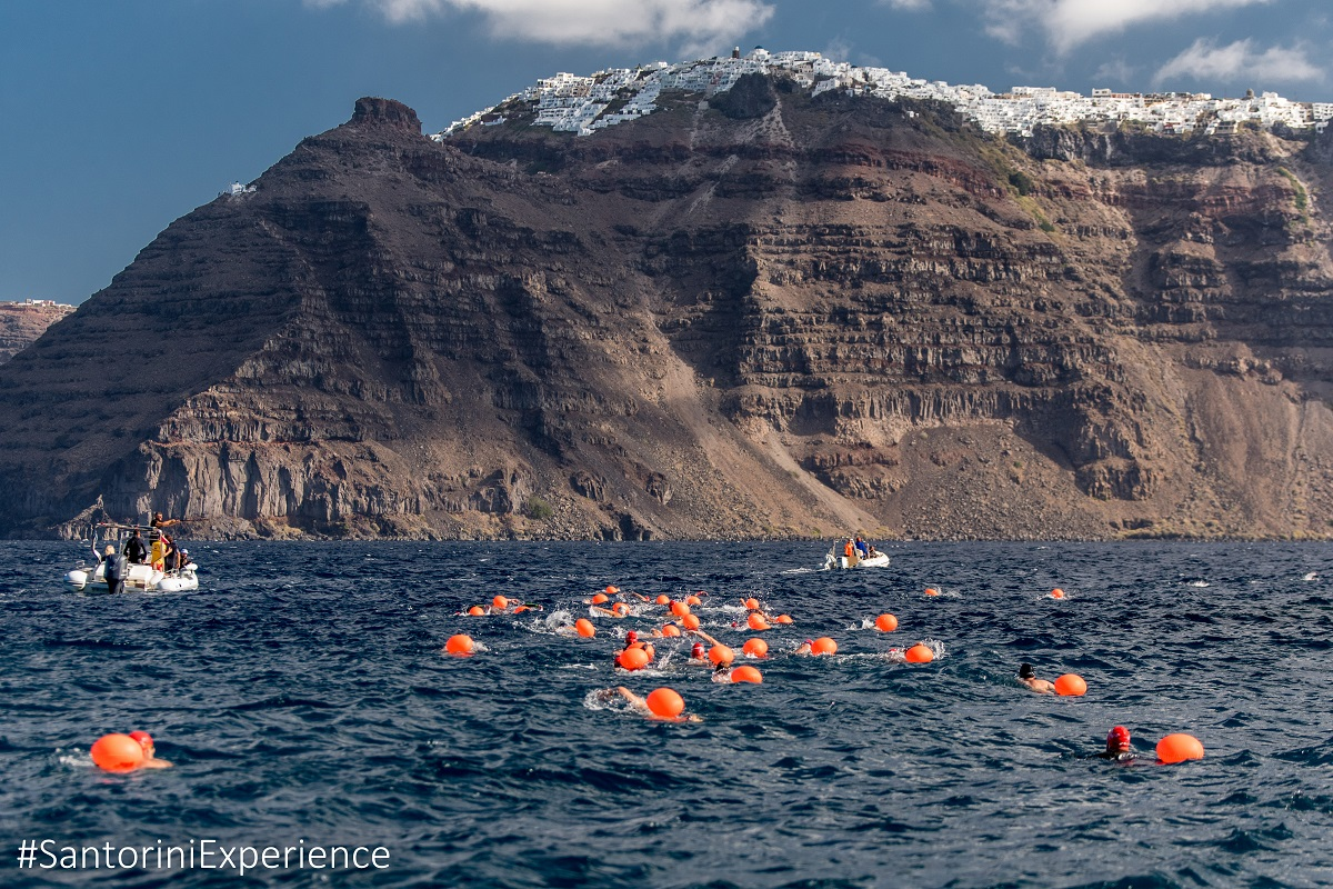 Swimmers of Santorini Experience (photo by Elias Lefas)