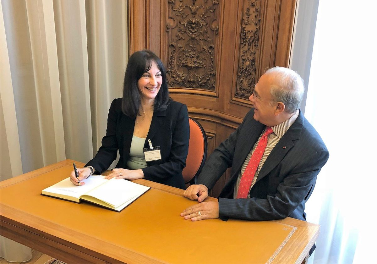 Greek Tourism Minister Elena Kountoura and OECD Secretary General Angel Gurria.