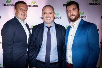 Manessis Travel founder Andreas Manessis; Dimitris Serifis; Axia Hospitality CEO John Kyritsis