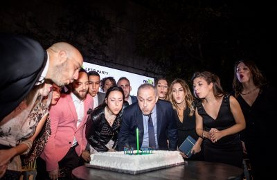 The Nelios team and CEO Dimitris Serifis cut the birthday cake.