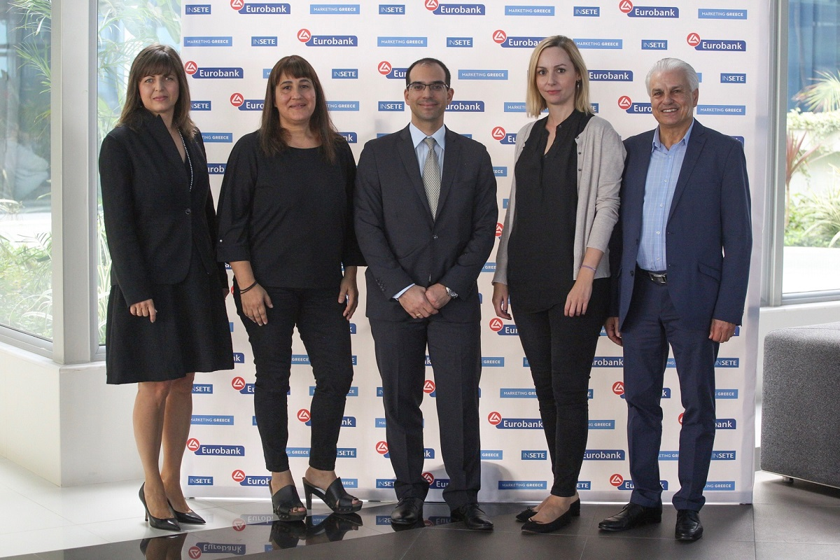Mariliza Chatzilazarou, Rhodes Deputy Mayor for Tourism; Marietta Papavasileiou South Aegean Vice Governor for Tourism; Thanasis Nellas Rhodes Business Center Director at Eurobank; Ioanna Dretta, Marketing Greece CEO; Giorgos Matsigos, President of the Rhodes Association of Hotel Managers.