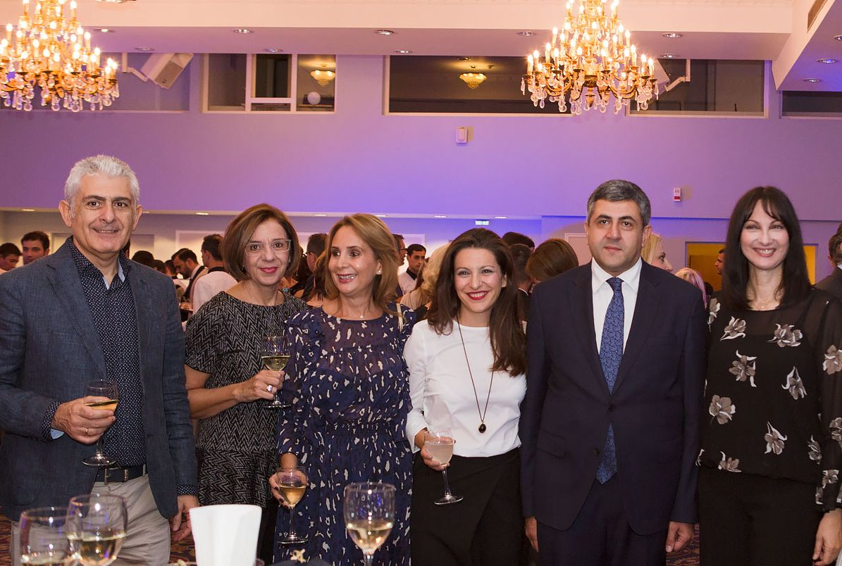 Grand Hotel Palace General Manager Panagiotis Zelelidis, Thessaloniki Convention Bureau (TCB) Managing Director Eleni Sotiriou, MEAS Triton President Christina Karamichou, 'The Luxury Hotels' Managing Director Dome Deedoglou, UNWTO Secretary General Zurab Pololikashvili, Greek Tourism Minister Elena Koundoura. Photo © Grand Hotel Palace