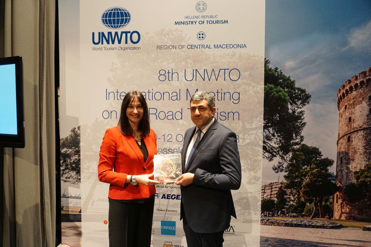 Greek Tourism Minister Elena Kountoura and UNWTO Secretary General Zurab Pololikashvili. Photo © GTP