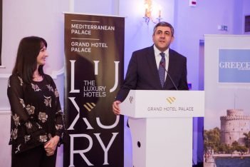 UNWTO Secretary General Zurab Pololikashvili and Greek Tourism Minister Elena Koundoura.