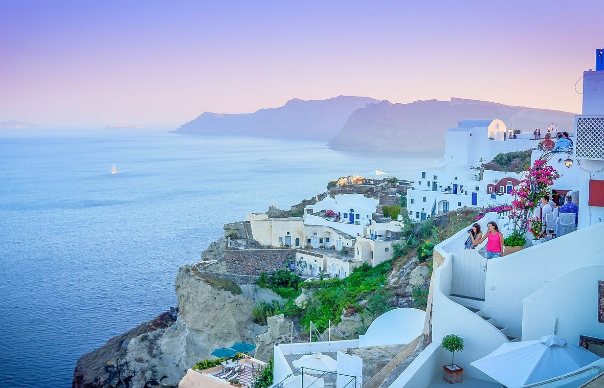 The island of Santorini is a favorite Greek destination for real estate investors.