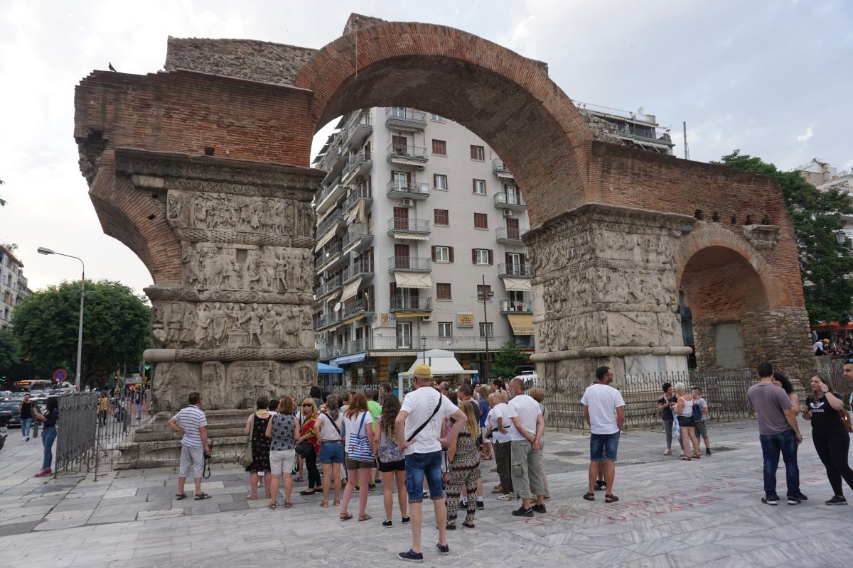 The Arch of Galerius monument in Thessaloniki, northern Greece. Photo © GTP