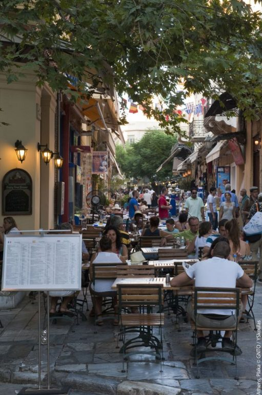 Plaka district in Athens. Photo source: VisitGreece/YSkoulas