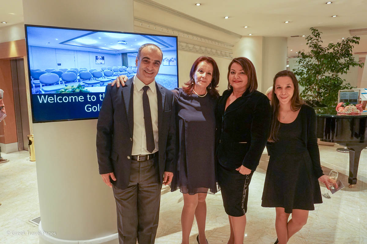 Members of The Golden Age Hotel team: Yiorgos Bissaritis, Front Office Manager; Zoi Dokopoulou, Reservations Manager; Vicky Liakou, Director of Sales and Lila Rigaki, Banquet & Sales Executive.