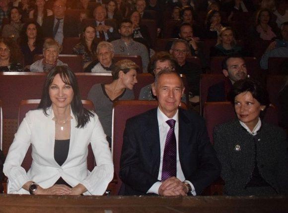 Greek Tourism Minister Elena Kountoura and Ambassador of the Russian Federation to Greece Andrey Maslov.