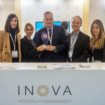 Inova Sales and Marketing Manager UK, Ireland & Skandinavia Barbara Tsagari; myconcierge.com Managing Director Greece Christina Karamichou; Inova Managing Director Andreas Birner; Director of Sales & Marketing for UK, Ireland and Scandinavia Steve Stewart, and Business Development Manager Evelina Ioannidou.