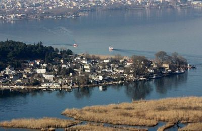 The islet of Ioannina in Lake Pamvotida in Ioannina, Epirus, Greece. Photo Source: @MyEpirus