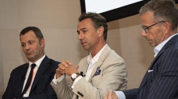 Quentin Desurmont (center), president of Traveller Made. Photo Source: Sommet Education