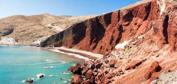 Red beach, Santorini. Photo Source: FlightNetwork