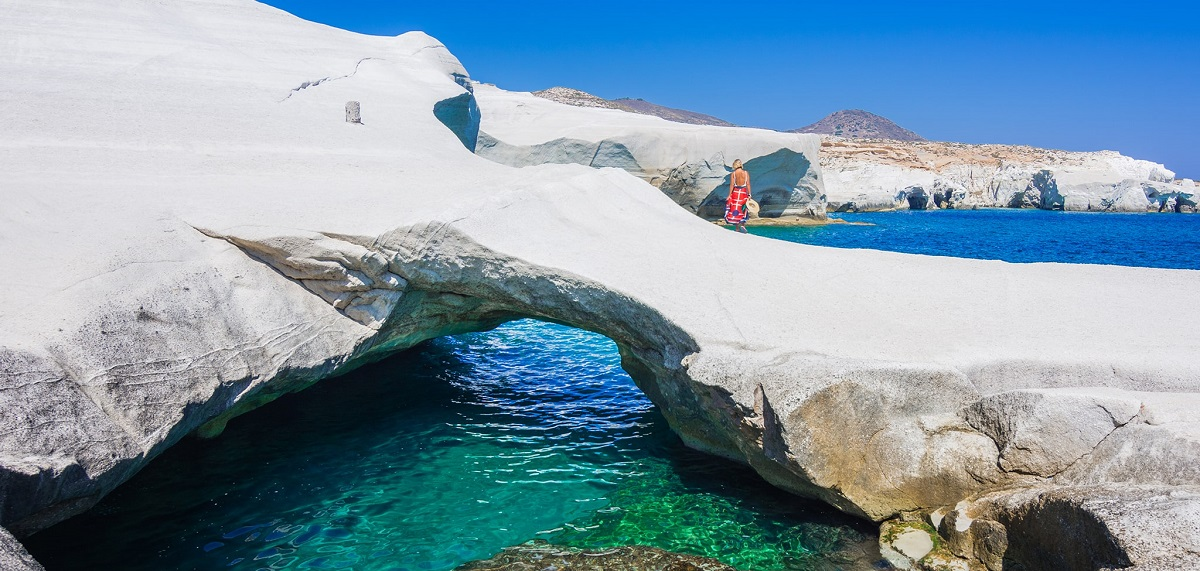 Sarakiniko beach, Milos. Photo Source: FlightNewtork