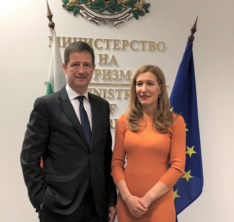 George Tziallas and Nikolina Angelkova, Minister of Tourism of the Republic of Bulgaria