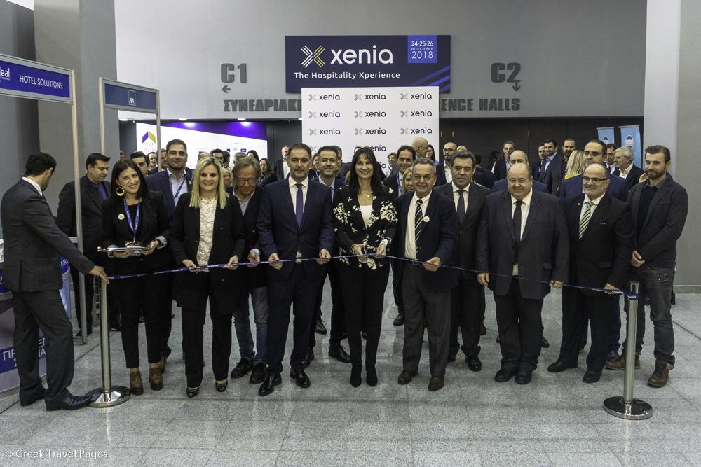 The Xenia 2018 hospitality expo was inaugurated by Greek Tourism Minister Elena Kountoura.