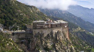 Mount Athos, Simonopetra Monaster. Photo Source: Visit Greece / H. Kakarouhas