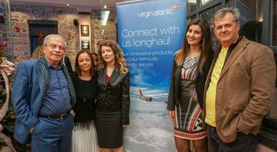 The team of Discover the World Greece & Cyprus: Dinos Frantzeskakis, director; Mara Iliadelli, sales executive; Eleni Kouvaraki, sales executive for Virgin Atlantic; Ioanna Nomidou, former sales executive for Virgin Atlantic; and Kostas Moschidis, sales manager.