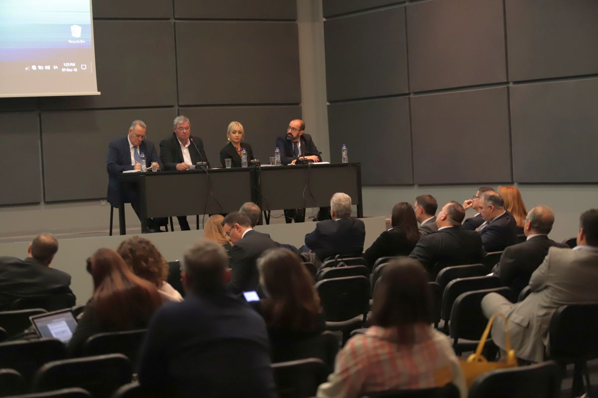 Panel discussion at the 1st Regional Meeting for Tourism. Photo source: Pieria Regional Unit