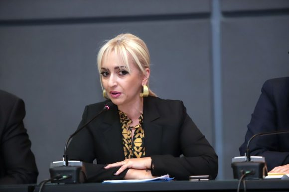 Head of ENPE's Committee on Tourism, Culture and Sport, Sofia Mavridou. Photo source: Pieria Regional Unit