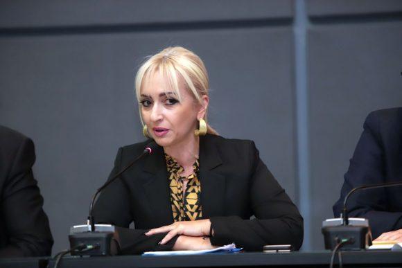 Head of ENPE's Committee on Tourism, Culture and Sport, Sofia Mavridou. Photo source: Pieria Regional Unit