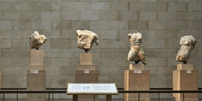 Sculptures from the west pediment of the Parthenon on display in Room 18 in the British Museum. Photo source: British Museum