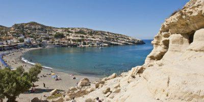 Matala Beach, Heraklion, Crete. Photo source: Visit Greece / Y. Skoulas