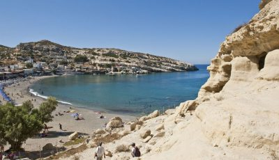 Matala Beach, Heraklion, Crete. Photo source: Visit Greece / Y. Skoulas