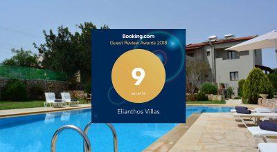 Ellianthos Villas Booking.com Guest Review Awards 2018