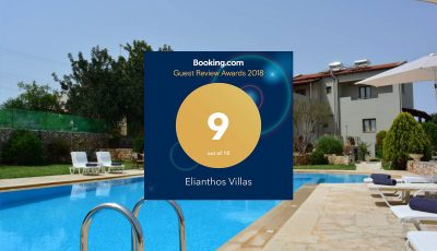 Ellianthos Villas Booking.com Guest Review Awards 2018