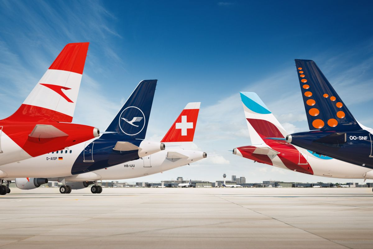 Airlines of the Lufthansa Group.