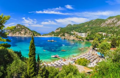 Paleokastritsa bay, Corfu island. Photo Source @Visit Greece