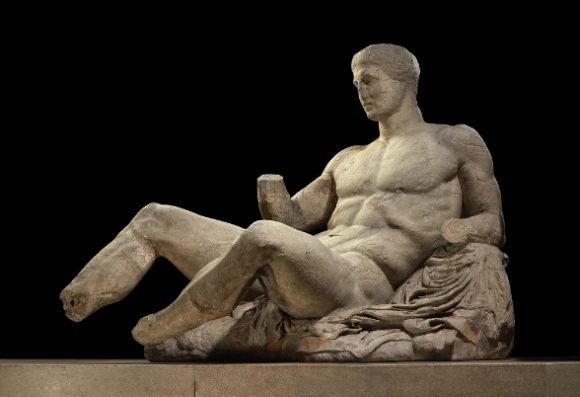 Figure of Dionysos from the east pediment of the Parthenon. Photo source: British Museum