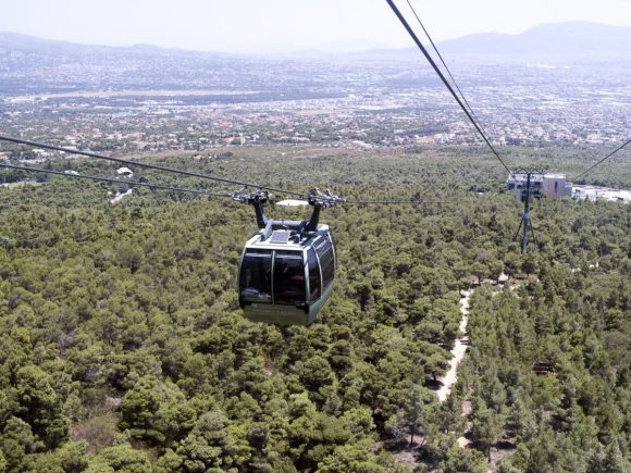 The cable car leading to the Regency Casino Mont Parnes. Photo source: Regency Entertainment
