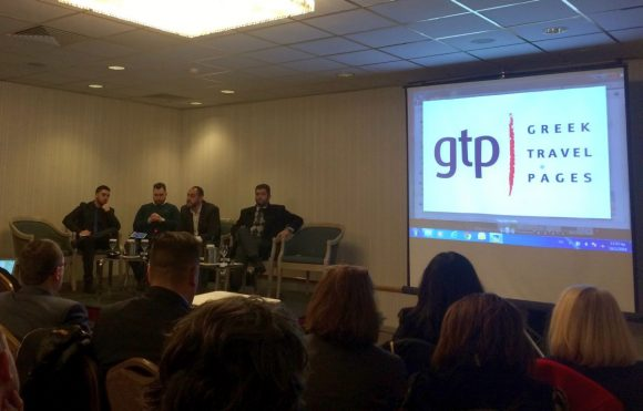 During the Greek Gastronomy Tourism Forum, GTP's sales and marketing manager, Charis Brousalian, took part in a panel and spoke of the opportunites offered by online media to promote gastronomy tourism to markets abroad.