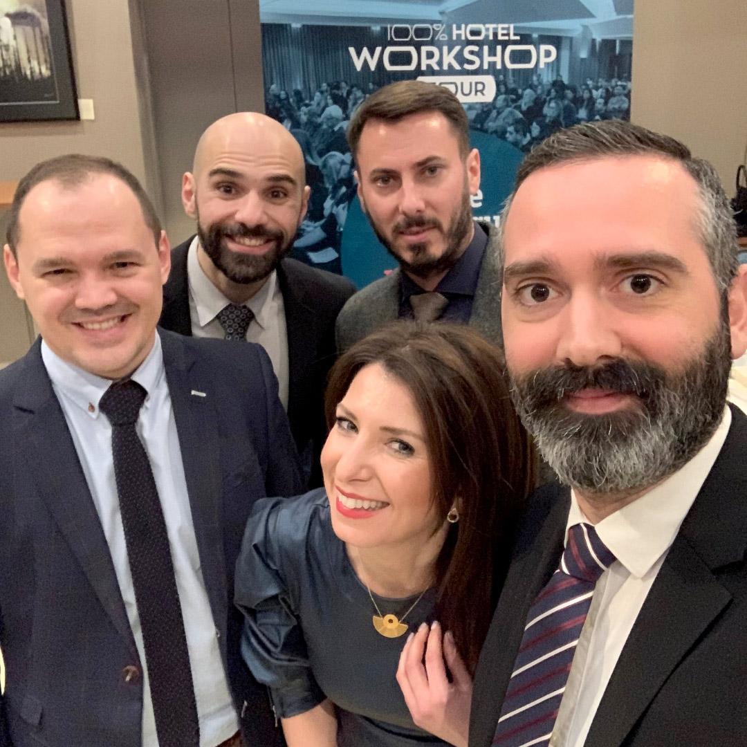 Η ομάδα των ομιλητών του 100% Workshop Tour 2019