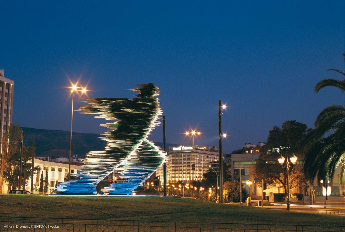 Dromeas statue in Athens. Photo source: Visit Greece / Y. Skoulas