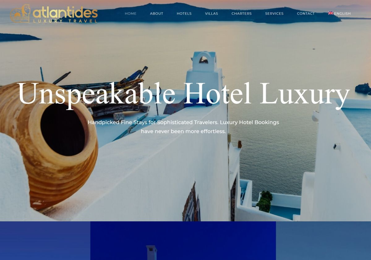 Atlantides Luxury Travel, A Greek Travel Agency That Specializes In  Offering Upscale Vacations To Discerning Travelers, Recently Launched A New  Website, ...