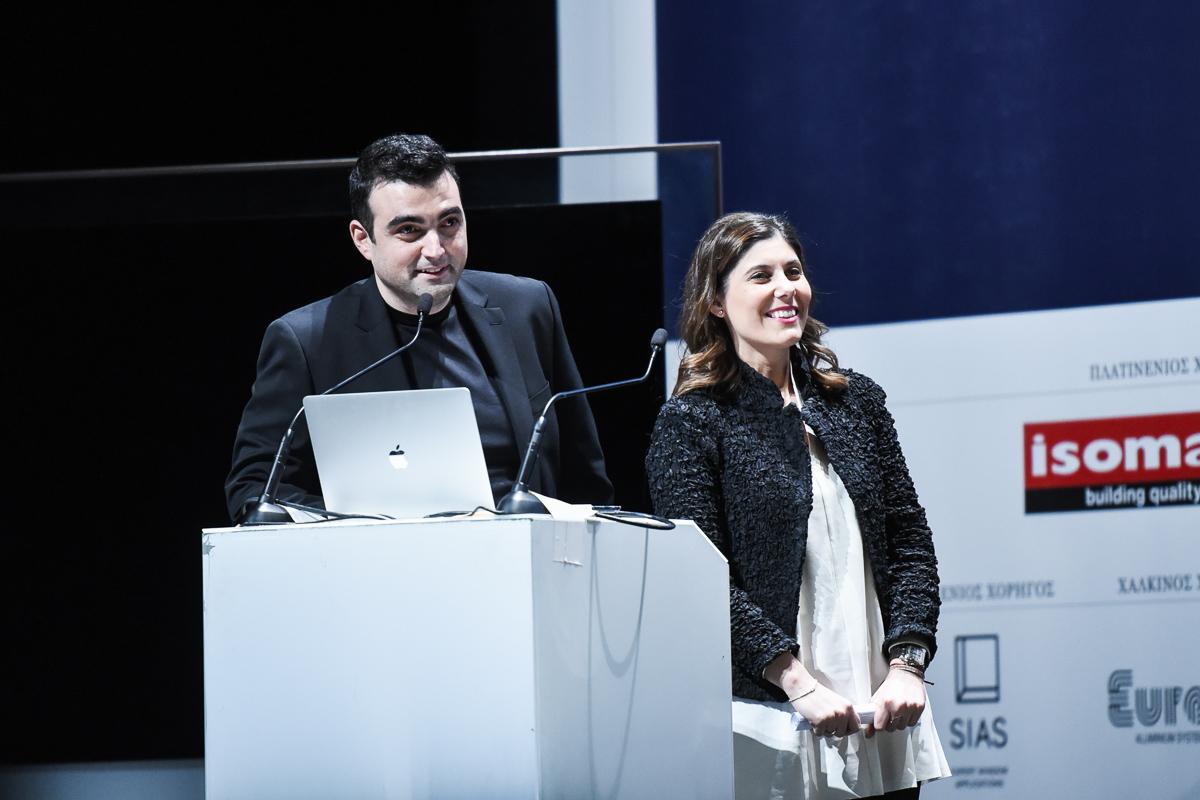 Η Νατάσα Λιανού και ο Ερμής Χαλβατζής, ιδρυτές του γραφείου LC Architects.