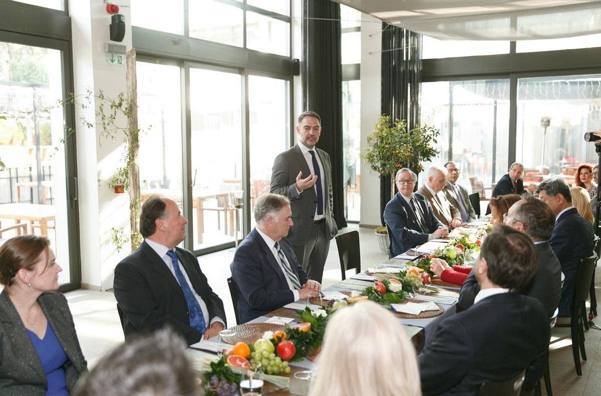 HCH President Alexandros Vassilikos introduced foreign diplomats to the Greek Breakfast initiative.