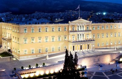 The Hellenic Parliament. Photo Source: @PressParliament