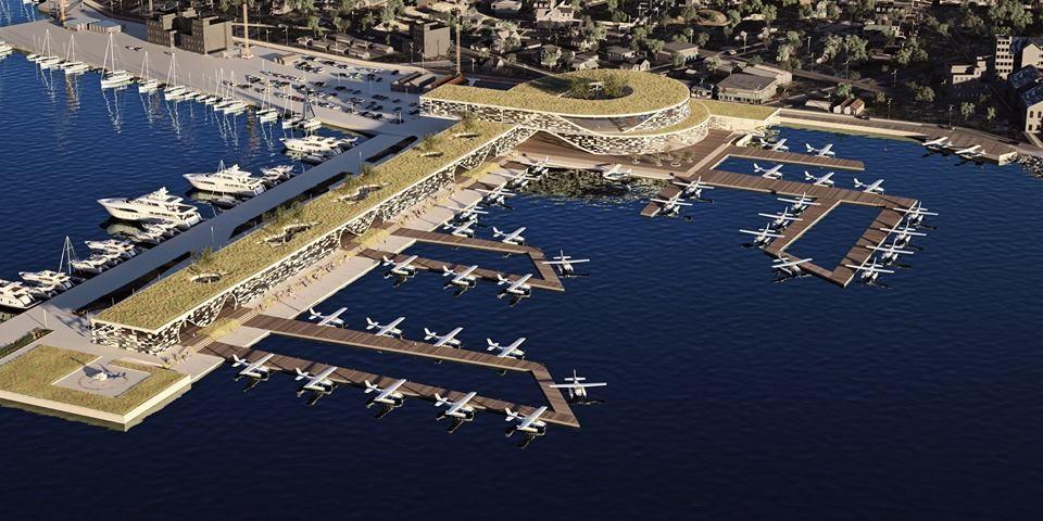 The Elefsina waterway project. Photo Source: @Hellenic Seaplanes SA