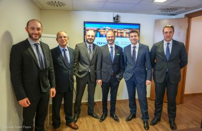 The Horwath HTL Greece team with Crowe SOL Managing Director Charilaos Faltsetas (second from left).