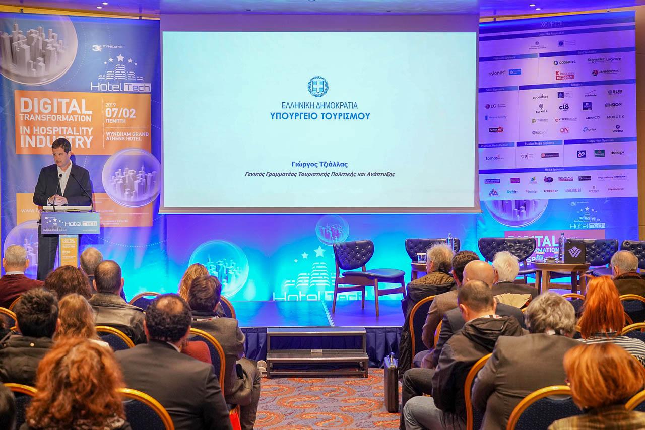 Ο κύριος Γιώργος Τζιάλλας, Γενικός Γραμματέας Τουριστικής Πολιτικής και Ανάπτυξης του Υπουργείου Τουρισμού.